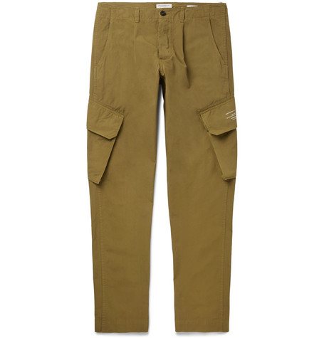 Pleated Cotton Cargo Trousers by President's
