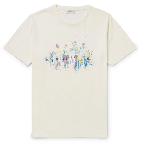 Printed Cotton Jersey T Shirt by President's
