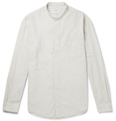 President's Grandad-Collar Striped Cotton and Linen-Blend Gauze Shirt