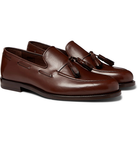Larry Leather Tasselled Loafers - Brown
