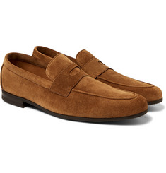 John Lobb - Thorne Suede Penny Loafers