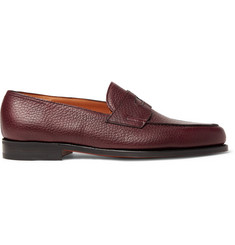 Lopez Full-grain Leather Penny Loafers - Burgundy
