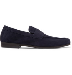 John Lobb Thorne Suede Penny Loafers