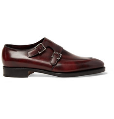 John Lobb Sennen Leather Monk Strap Shoes
