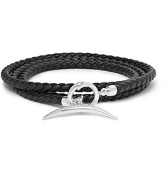 Shaun Leane Quill Woven Leather and Silver Wrap Bracelet