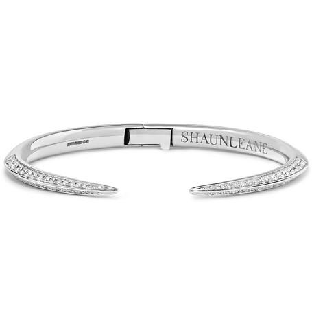 SHAUN LEANE | Shaun Leane - Sabre 18-karat White Gold Diamond Cuff - Silver | Goxip