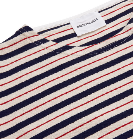 Godtfred Striped Cotton Jersey T Shirt by Norse Projects