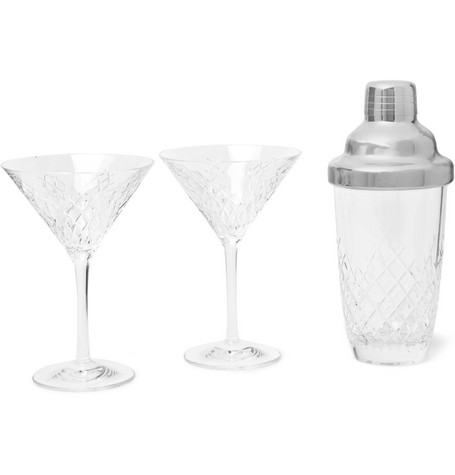 SOHO HOME Barwell Cut Crystal Martini Set in Clear