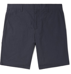 Paul Smith Slim-Fit Tapered Cotton and Ramie-Blend Shorts