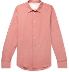 Paul Smith Coral Slim-Fit Cotton and Linen-Blend Shirt