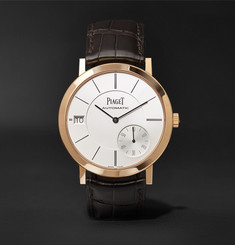 Piaget Altiplano 40mm 18-Karat Rose Gold and Alligator Watch