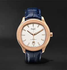 Piaget Polo S Automatic 42mm 18-Karat Rose Gold and Alligator Watch