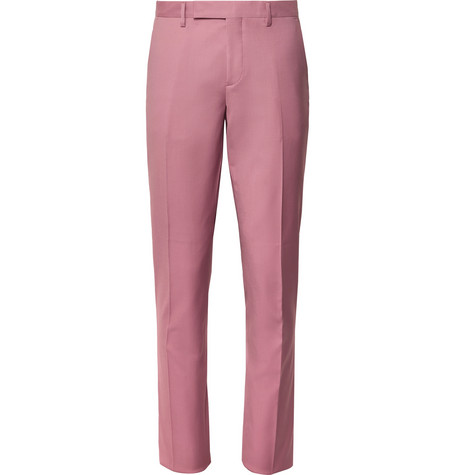 Dusty Pink A Suit To Travel In Slim Fit Wool Suit Trousers by Paul Smith