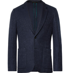 Paul Smith Navy Soho Slim-Fit Unstructured Textured-Cotton Blazer