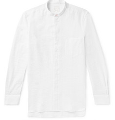 Paul Smith Grandad-Collar Cotton-Seersucker Shirt