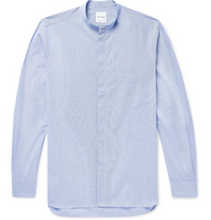 Paul Smith Grandad-Collar Striped Cotton Shirt