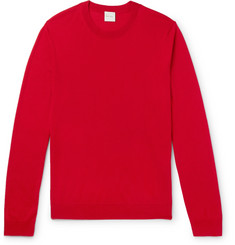 Paul Smith Contrast-Tipped Merino Wool and Silk-Blend Sweater