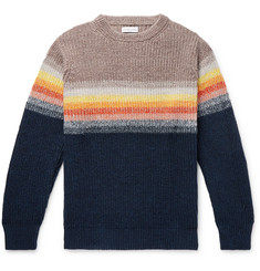 Richard James Striped Cotton and Linen-Blend Sweater