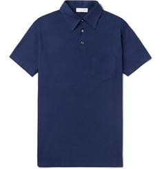 Richard James Slim-Fit Cotton and Lyocell-Blend Jersey Polo Shirt