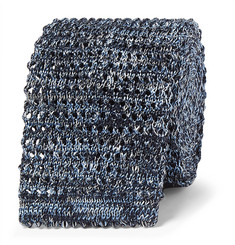 Richard James 6cm Mélange Knitted Silk and Linen-Blend Tie