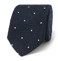 Richard James 8cm Polka-Dot Silk-Shantung Tie