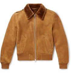 AMI - Shearling Aviator Jacket
