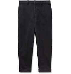 AMI Midnight-Blue Cotton-Twill Chinos