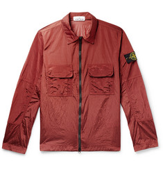 Stone Island Slim-Fit Logo-Appliquéd Shell-Panelled Ripstop Overshirt