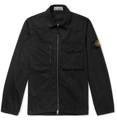 Stone Island Garment-Dyed Cotton Overshirt