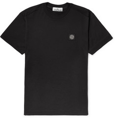 Stone Island Slim-Fit Logo-Appliquéd Cotton-Jersey T-Shirt