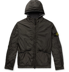 Stone Island Garment-Dyed Shell Hooded Jacket
