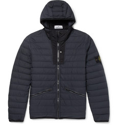 Stone Island Garment-Dyed Quilted Shell Hooded Down Jacket