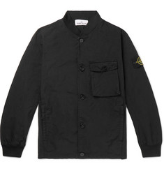 Stone Island - Logo-Appliquéd Garment-Dyed Canvas Bomber Jacket