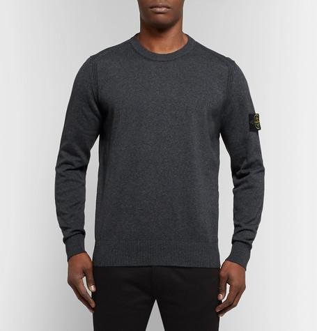 Logo Appliquéd Cotton Sweater by Stone Island