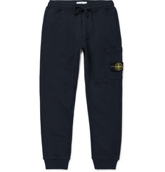 Stone Island - Slim-Fit Tapered Fleece-Back Cotton-Jersey Sweatpants
