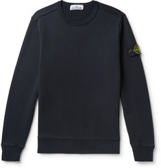 Stone Island - Logo-Appliquéd Fleece-Back Cotton-Jersey Sweatshirt