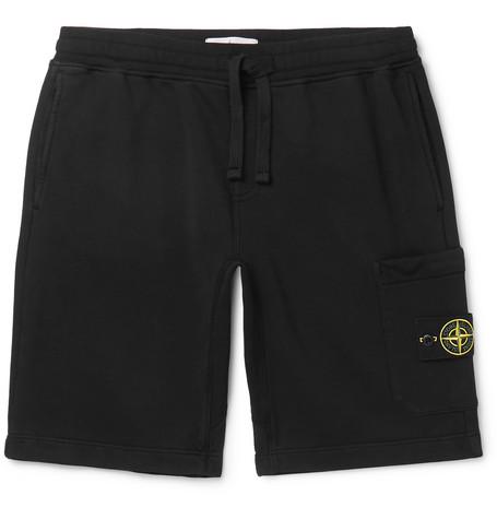 Fleece Back Cotton Jersey Shorts by Stone Island