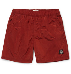 Stone Island Wide-Leg Mid-Length Swim Shorts