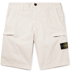 Stone Island Logo-Appliquéd Stretch-Cotton Shorts