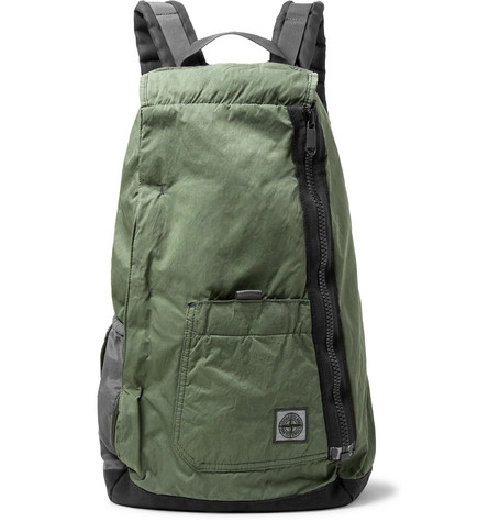 Stone Island - Logo-Appliquéd Nylon and Canvas Backpack 366545da33294