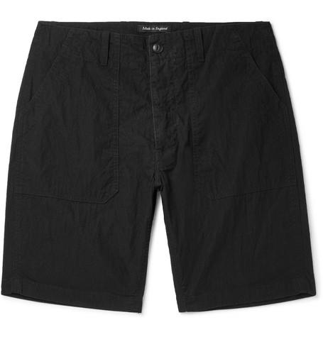 Washed Cotton And Nylon-blend Shorts