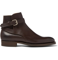Edward Green Lambourne Textured-Leather Boots