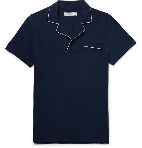 Orlebar Brown – Slim-fit Cotton-piqué Polo Shirt – Navy