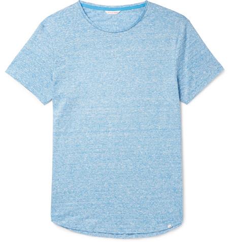 Orlebar Brown – Ob-t Slim-fit Striped Linen-jersey T-shirt – Blue