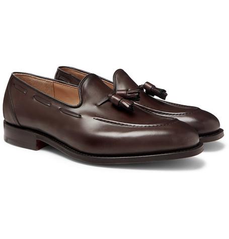 Kingsley 2 Polished-leather Tasselled Loafers - Dark brown