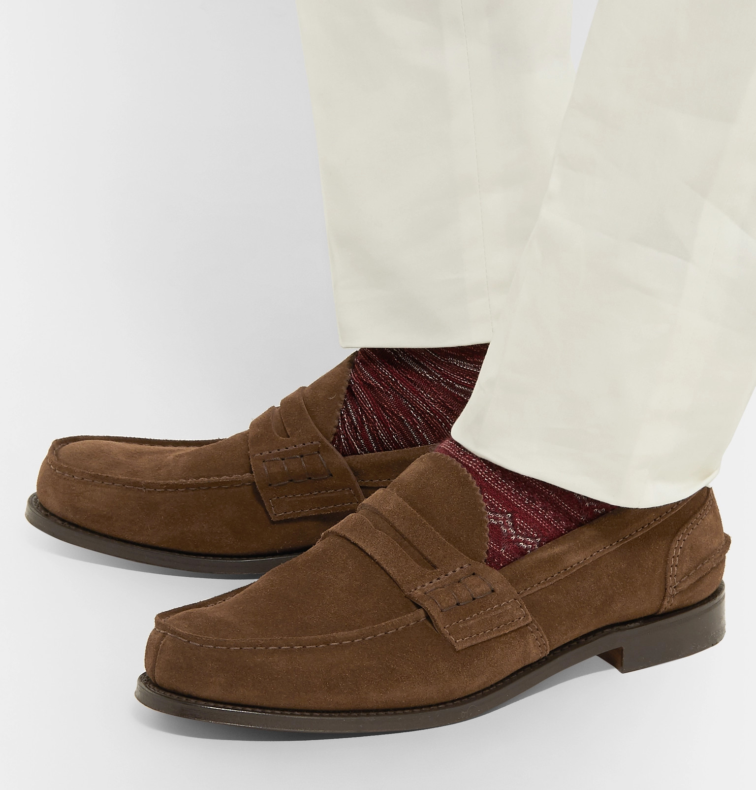 5aa8bf4379c Church s - Pembrey Suede Penny Loafers