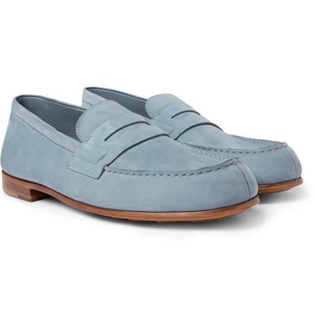 281 Le Moc Suede Loafers - Light blue
