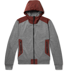 Sease Upwind Panelled Virgin Wool and Shell Zip-Up Hoodie