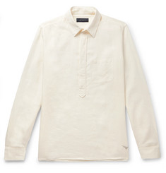 Sease Slub Linen Half-Placket Shirt