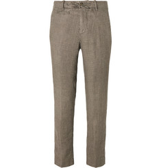 MAN 1924 - Tomi Houndstooth Linen Suit Trousers